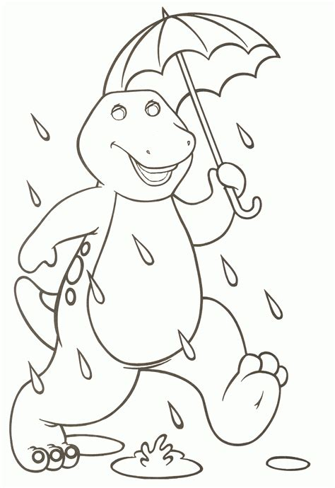 barney coloring pages to download and print for free