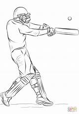 Cricket Coloring Player Sports Colorare Drawing Draw Super Disegni Disegno Cartoon Bat Giocatore Drawings Step South Printable Game Easy Lesson sketch template