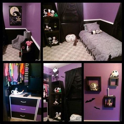 nightmare before themed bedroom