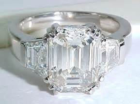 jewelers engagement ring sale emerald cut ring