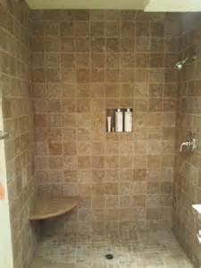 travertine bathroom tile ideas tumbled noce travertine shower bathroom tile