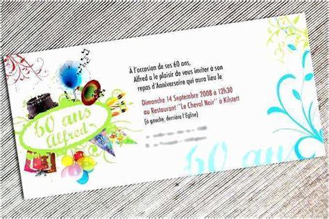 Carte D Invitation Pour Anniversaire 60 Ans Carte