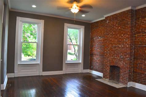 exposed brick living room living room pinterest