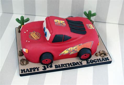 lightning mcqueen car birthday cake bakealous