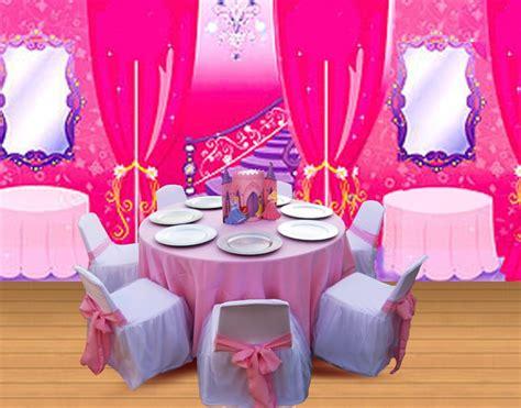 princess theme birthday party table set  decoration
