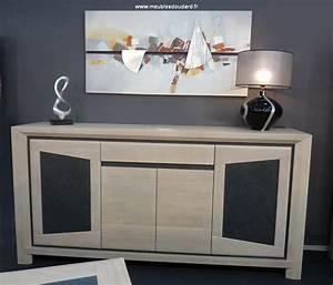buffet bas moderne en bois clair bahut contemporain en With meuble salle À manger avec buffet chene clair