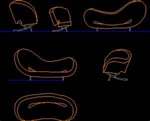 Oval Sofa 2D DWG Block for AutoCAD • Designs CAD