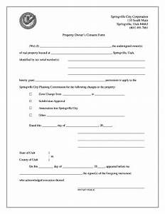 Consent Form For Property Owners - Fill Online, Printable ...