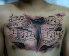 Music Chest Tattoos