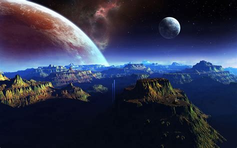 fantasy planet space art wallpapers pictures  images