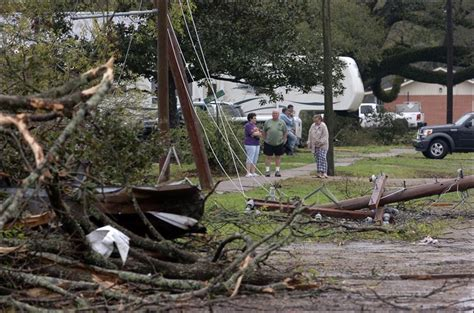 louisiana tornado lafayette woman damages kills injures homes weather violent rayne thunderstorms foundations downed southwestern moved trees houses toledo blade