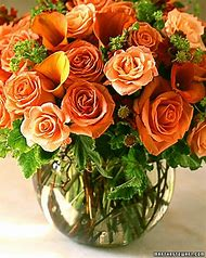 Orange Rose Flower Arrangement