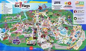 Six Flags New England - 2016 Park Map