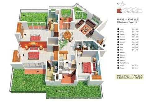 50 Three 3 Bedroom Apartment/House Plans Luxury house