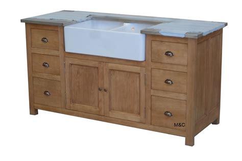 meuble evier de cuisine 2 bacs en bois