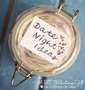 Southern In Law Valentines DIY Gifts Date Night Jar