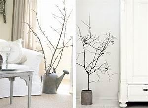 Branche De Bois Deco : des branchages en guise de d co de no l joli place ~ Teatrodelosmanantiales.com Idées de Décoration