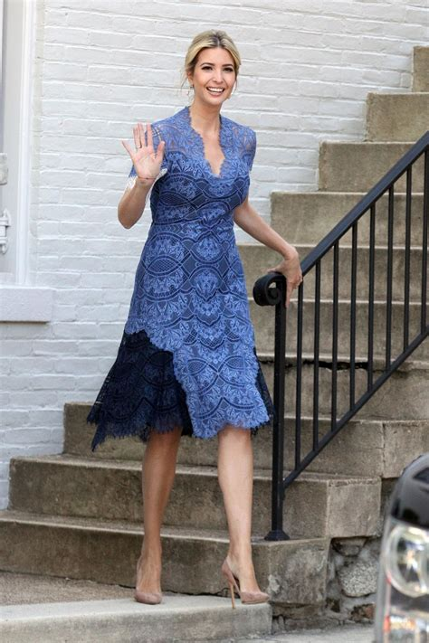 ivanka trump   blue summer dress washington dc