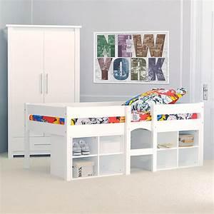 Lit Mi Hauteur Avec Rangement : lit mi hauteur ikea ~ Premium-room.com Idées de Décoration