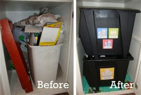 home recycling containers ideas   kitchen   rooms