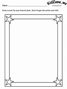 the gallery for gt blank book cover printable With blank book template for kids