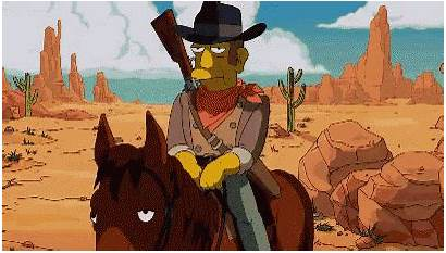 Cowboy Howdy Simpsons Partner Jerry Tom Gifs