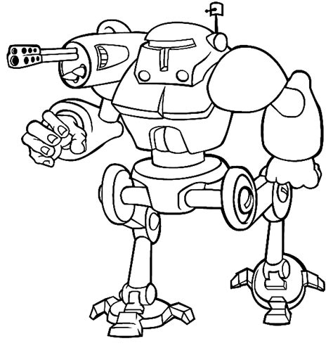 robot  characters printable coloring pages