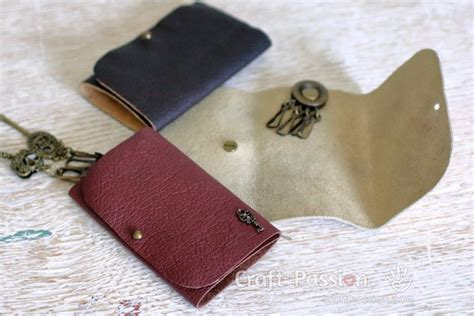 leather key pouch  sew  tutorial craft passion