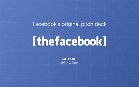 Free Pitch Deck Templates For Startups by The Pitch Deck From 2004 Pitch Deck Exles