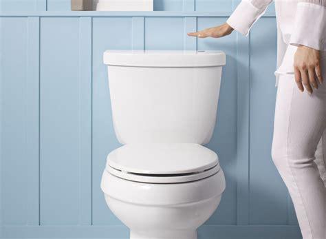 the flushing toilet wave to flush kohler kit makes toilets touchless cnet