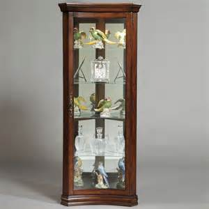 shop pulaski gallery corner curio cabinet at lowes