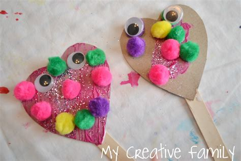 valentines day crafts preschool s day puppets craft preschool crafts for 250