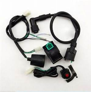 Wiring Harness Kill Switch Ignition Coil Cdi 50cc