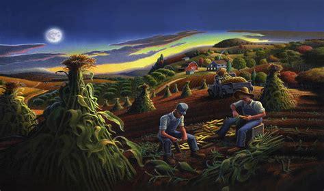 Iphone Case - Shucking Corn Til Sunset - Folk Art Farm