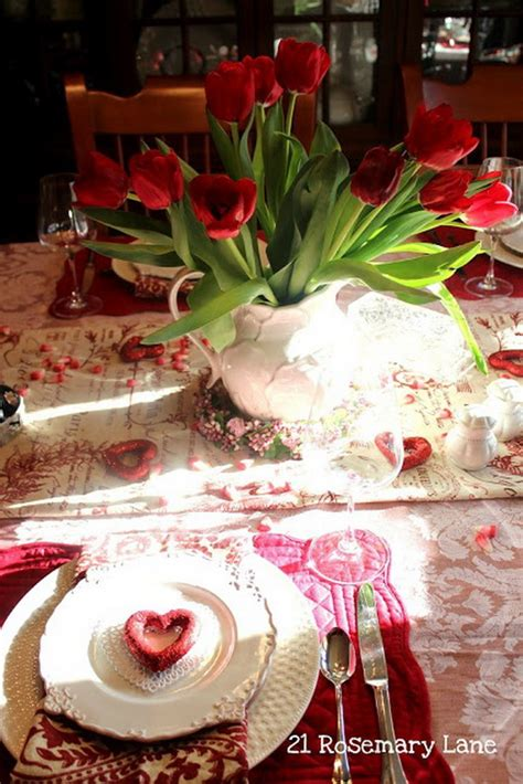 What would happen if you were to decorate your valentines tables with colorful candies? Romantic Table Decorating Ideas for Valentine's Day ...