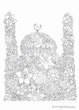Coloring Pages Islamic Ramadan Activities Eid Crafts Mosque Islam Projects Studies Colouring Masjid Arabic Colour Books Craft Decorations Creative Facts sketch template