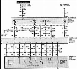 Bronco  Electrical Wiring Diagram  4x4  Motor On The