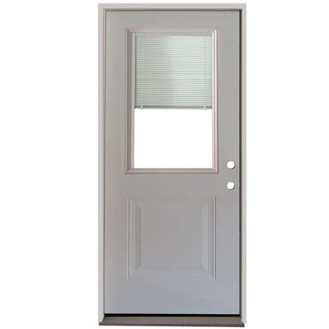 mini blinds for doors steves sons 32 in x 80 in 3 lite left outswing 9170