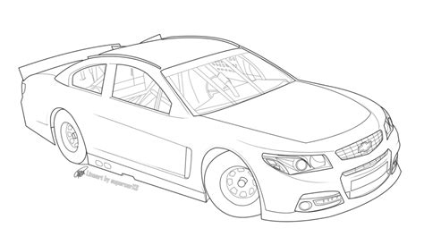 Free Nascar Racecar Lineart By Supercarxs On Deviantart