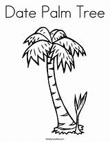 Coloring Tree Palm Date Twistynoodle Ll Trees Pages Twisty Noodle sketch template