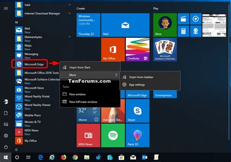 open    apps  start menu  windows  tutorials