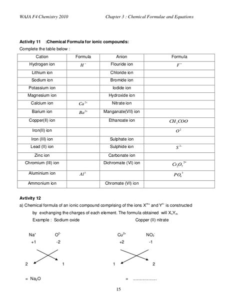 3 Chemical Formulae And Equations