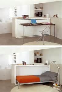 desk transforms into bed