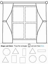 Rectangle Shapes Worksheets Preschool Tracing Worksheet Coloring Kidzone Pages Practice Learning Ws Shape Window Rectangles Prek Writing Homework Crafts Recognition sketch template