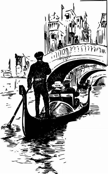 Gondola Italy Bridges Venice Gondolier Bridge Burning