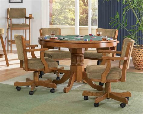 dining room sets with chairs on casters inspirational a