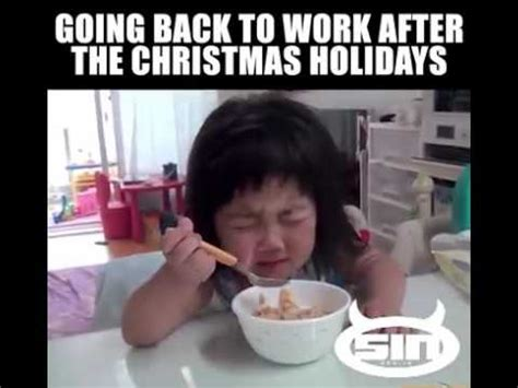 going back to work after hollidays