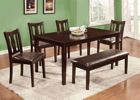 dining set with bench northvale ii 6 dining table set with bench from
