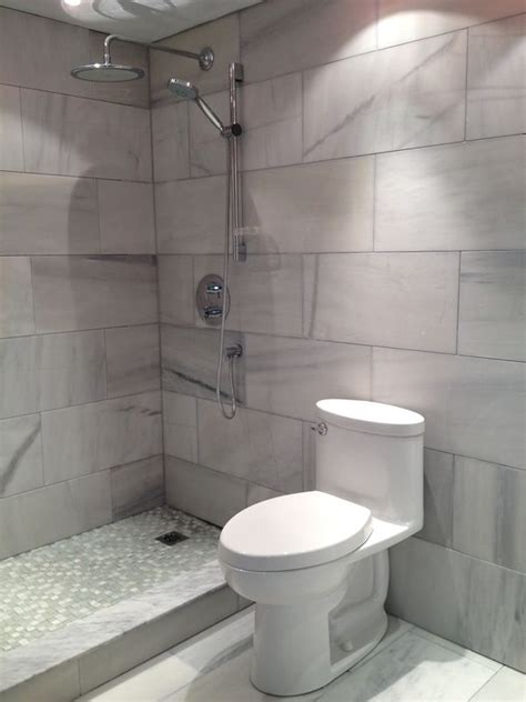 Small Bathroom Large Tiles by Use Large Format Tiles Through Out Your Entire Bathroom