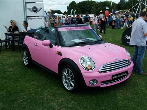 pink convertible cars pink convertible mini cooper girly cars for female